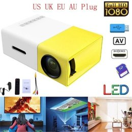 Player Hdmi Australia - YG300 YG-300 LCD LED Portable Projector Mini 400-600LM Full HD 1080p Video 320 x 240 Pixel HDMI USB Projector Media Player US