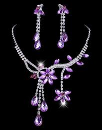 Pearl Bridal Jewellery Australia - Trendy Crystal Bridal Jewelry Set 2019 necklaces diamond earrings Wedding jewellery sets for bride Bridesmaids Accessories