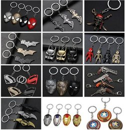 superman chains Canada - 17 styles Avengers Superman Keychain Superhero S Logo Key Chain High Quality Keyring for Women Men Fans Jewelry 04 jssp01