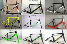 Ensemble de cadre de vélo de route T1000 Foil Cadre en fibre de carbone / cadre complet en carbone Cadre de vélo de route + tige de selle + fourche + pince + casque