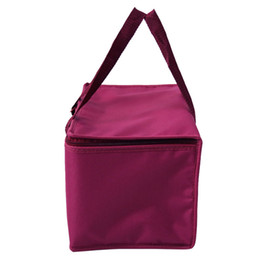 Hot packs food online shopping - Oxford Cuboid Insulated Cooler Pure Colour Picnic Bag Aluminum Film Zipper Heat Insulation Portable Package Ice Pack Hot Sale hdC1