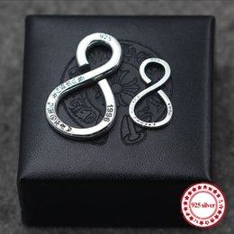 $enCountryForm.capitalKeyWord Australia - S925 sterling silver men's keychain personality retro classic jewelry punk style hip-hop 8-shaped DIY send lover's gift