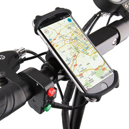 Fahrradhalter Silikon Unterstützung Universal Mobile Handy Lenkerhalterung Band Fahrrad GPS Clip Für iPhone Samsung Xiaomi PA0115 # 25223