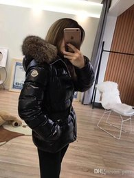 Raccoon Hooded Parka Coats Australia - top quality Women Winter M Duck Down Coat 100% Real Large Raccoon Fur Collar M Down Jacket Hooded Waist Thick Duck Down Parkas