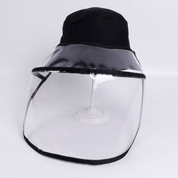 military shields NZ - Foldable Unisex Protective Fisherman Hat Multifunction Sun Cap Shield Anti Spitting Detachable Outdoor Windproof Face Cover