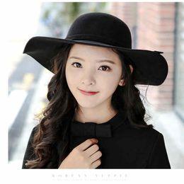 a01c00192ae Puimentiua 2019 New Pillbox Hat Women s Wide Brim Felt Bowler Fedora Hat  Floppy Sun Bowknot Cloche Cap Women s Large outdoor