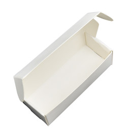$enCountryForm.capitalKeyWord NZ - 9.4x3.8x2.6cm Foldable White Soft Paperboard Package Box Boutique Lipstic Packing Boxes Makeup Bottle Candy Packaging Kraft Paper Box 50pcs