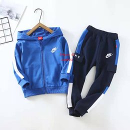 $enCountryForm.capitalKeyWord Australia - Children Sweatshirts jogging set autumn kids designer frozen clothing zipper sweatshirt + pants 2pcs boys girls cotton terry sets