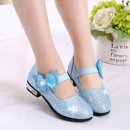 $enCountryForm.capitalKeyWord Australia - Fashion Girls Kids Shoes Rhinestone Glitter Leather Shoes For Girls Spring Children Princess Shoes Pink Silver Golden MX190727