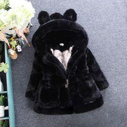 $enCountryForm.capitalKeyWord Australia - New Baby Girls Winter Coat Kids Faux Fur Jackets Infant Warm Coat Rabbit Ears Outerwear Children Snowsuit ,18m-7y,#2434