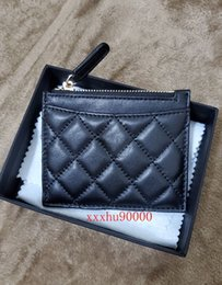 Small Leather Purses Canada - brand new genuine leather women coin wallet lambskin small purses for lady 213