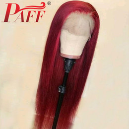 straight human hair wigs side part NZ - PAFF 13x6 Glueless Lace Human Hair Front Wig Straight Hair Malaysia Remy Pre Plucked Lace Front Wig With Baby Hair Side Part