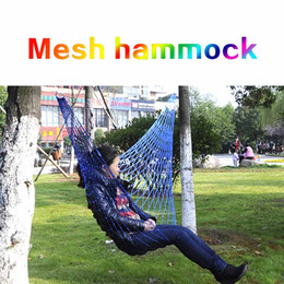outdoor camping beds nets NZ - (A296X) Outdoor Hammock Travel Camping Net Mesh Nylon Rope Bed Portable Hang Garden