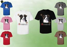 $enCountryForm.capitalKeyWord NZ - Collie Dog T-Shirt - Unisex Border Collie Dog T-Shirts Tee (07747HD4 Cartoon t shirt men Unisex New