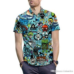 $enCountryForm.capitalKeyWord Australia - 2019 Short-sleeved large size shirt men's summer anime cartoon Indian style Illusion vortex 3D printing shirt street fashion brand shir