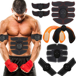 Wholesale 2019 EMS Wireless Muscle Stimulator Abdominal Toning Belt Muscle Toner Body Muscle Fitness Trainer For Abdomen Arm Leg Unisex