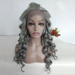 $enCountryForm.capitalKeyWord Australia - Wholesale Price Brazilian Loose Wave Wigs Full Lace Wigs Gray Color 100% Human Hair 13x4 Lace Frontal Wigs Super Fashion 8-30inch