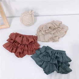 $enCountryForm.capitalKeyWord Australia - New Stylish New Baby ruffle bloomers Korean Infant Toddle Summer Cotton Cake Skirts Short Pant Kids Fashion Casual Bloomer boutique cloth