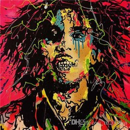 $enCountryForm.capitalKeyWord Australia - Alec Monopoly High Quality Handpainted & HD Print Abstract Graffiti Art Oil Painting Bob Marley On Canvas Home Decor Wall Art g303