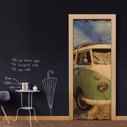 Bus Life Australia - Wholesales DIY Door Sticker Retro Old Bus Wateproof Door Decal for interior decoration wallpapers Decal home