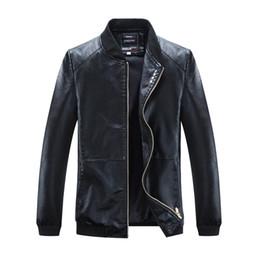 Washing Motorcycle Jacket Australia - 2019 Mens Leather Jacket Spring Autumn Thin Coat Leather Jacket Washed Motorcycle Leather Jacket Casual Coat