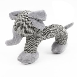 small plush dogs NZ - Dog Squeak Sound Toy Interactive Plush Dog Toys Pet Chew Toys For Small Large Dogs Play Funny Training Gray Elephant