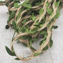 $enCountryForm.capitalKeyWord Australia - 10m   hemp rope with green leaf vine wedding party decoration DIY tag rattan cloth woven gift wrapping rope
