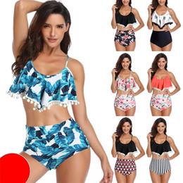 Small bikini StyleS online shopping - Lotus Leaf Lace Swim Suit Small Ball Bikini High Waist Swimwear Multiple Styles More Color Eco Friendly wh C1