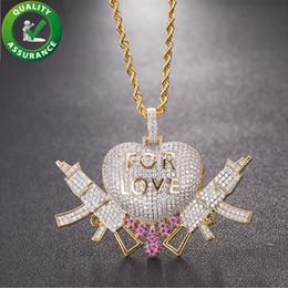 Love Couple Chain Pendant Australia - Iced Out Pendant Designer Necklace Hip Hop Jewelry Mens Diamond Chains Pendant Luxury Bling Heart Love Couple Charms Rapper Accessories