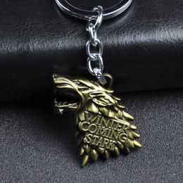 House Plates Australia - New Keychains House Stark Lannister Targaryen Keychain Pendant Keyring Souvenirs Gift