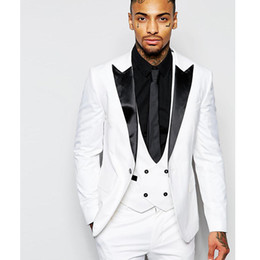 $enCountryForm.capitalKeyWord Australia - 2019 Double-breasted Vest Italian 3 Pieces Groom Suits for Wedding Formal Suit Wedding Suits Tuxedos for Men Jacket+Pants+Vest
