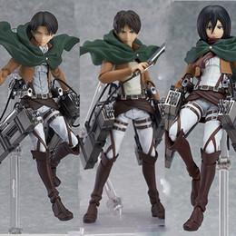 $enCountryForm.capitalKeyWord Australia - Anime Attack On Titan Eren Mikasa Ackerman Levi  rivaille Figure Pvc Action Figure Model Toy J190722