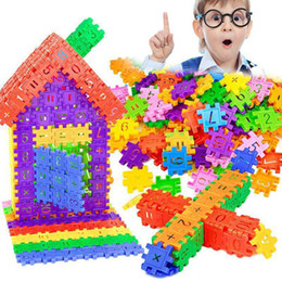 Wholesale Plastic Children Geometric Digital Building Blocks Funny Educational Toys Gifts Fashion Building Blocks