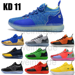 f24b1378a59 2018 new kevin durant xi kd 11 black twilight michigan basketball shoes for men  designer shoes us size 7-12