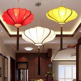 $enCountryForm.capitalKeyWord UK - E27 Modern new Chinese hand-painted cloth lantern bedroom study restaurant chandelier classical hotel lobby tea hall walkway