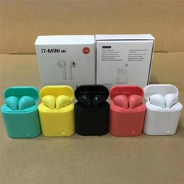 iphone dock white NZ - i7 Mini TWS Wireless Bluetooth Earphone Double Earbuds With Charger Dock Stereo Headphone For iPhone Xs 8 7 Plus S9 Plus Android