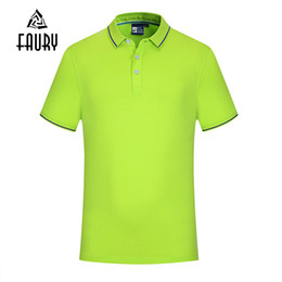 Uniform Polo Australia - custom name logo Solid Color Polo Shirt Golf Tennis Sports Casual Tops Hotel Restaurant Waiter Work Uniform Breathable