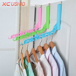 $enCountryForm.capitalKeyWord Australia - Door Hanging Foldable Clothes Hanger Magic 5 Hole Hanger Rack With Hook Space Save Clothing Tie Organizer Creative Drying