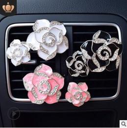 $enCountryForm.capitalKeyWord Australia - Black Rose White Pink Purple Camellia Aromatherapy Clip Auto Air Vent Freshener Car Accessories Car Air Fragrance & Deodorant HA151