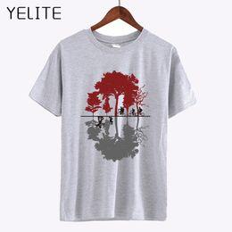 Tee Tree Australia - YELITE Tree Bicycle Cotton T Shirt 2019 Summer High Quality Custom Printed T-Shirt Hipster Men's Fashion Tops White Gray Tees
