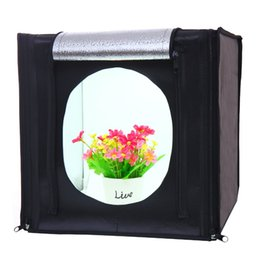 portable photo tent Australia - photo studio softbox CY30*30cm LED Photo Studio Softbox Shooting Light Tent Soft Box + Portable Bag + AC Adapter for Jewelry Toys