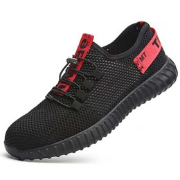 $enCountryForm.capitalKeyWord Australia - Hot Sale-New breathable safety shoes men's Lightweight summer anti-smashing piercing work sandals Single mesh sneakers 35-46