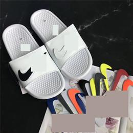 ShoeS Sport beach online shopping - Men s Designer Slippers Shoes Luxury NK Sandals Changable Magic Stick Brand Sports Beach Sandal Flip Flops Beach Bath Shoes SizeC61802