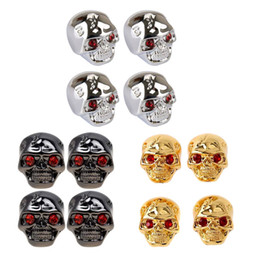 Electric Guitars Control Knobs Australia - 4pcs Cool Skull Head Tone Volume Control Knobs Buttons for Electric Guitar