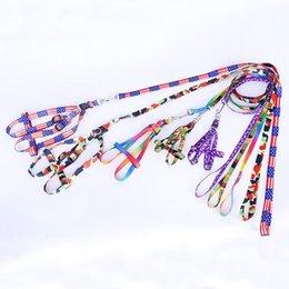 Vente en gros Gros chat animal de compagnie chien collier corde cravate collier laisse animaux fournitures accessoires impression chien en nylon réglable laisse chien chiot DH0273