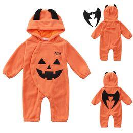 980f633b992ac halloween costumes pumpkin cap Jumpsuit kids clothes orange Long-sleeved  Romper Jumpsuits crawling clothes kids designer clothes DHL JY428