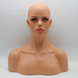 Heads Lace Wig Australia - Fiberglass Female Mannequin Head Bust For Lace Wig Jewelry And Hat Display