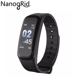 $enCountryForm.capitalKeyWord NZ - C1 Color Screen Smart Bracelet Blood Pressure Waterproof Smart Band Heart Rate Monitor Fitness Tracker Sport Wristband