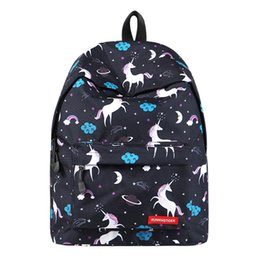 Cute small baCkpaCk online shopping - Women s laptop backpack Women unicorn Prints Fahion small cute backpack school College bags for teenage girls Travel back pack