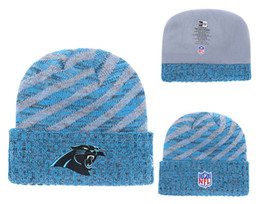 Knitted Cloche Australia - Men's Carolina Panthers New Blue 2018 Sideline Cold Black Weather Official Sport Knit Hat 01
